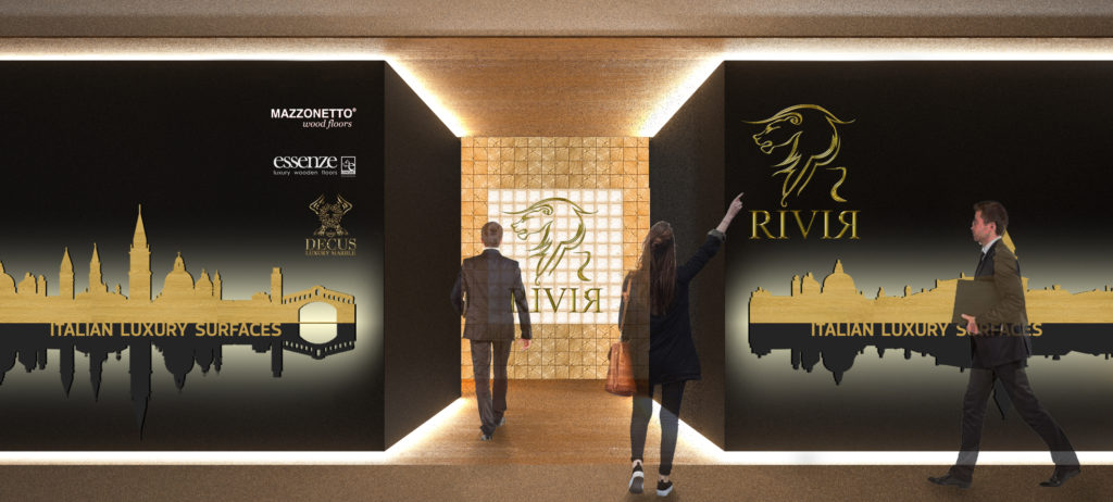 Showroom Foshan - Rivir ingresso render